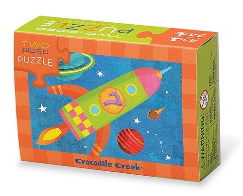 Puzzle dwustronne Rakieta 24