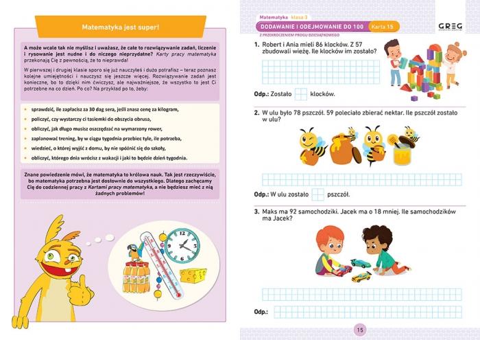 Matematyka. Karty pracy w szkole i w domu - klasa 3 Marta Kurdziel