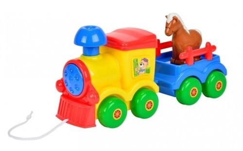 ABC Pociąg z przyczepką i konikiem (104010733)