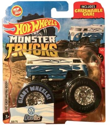 Hot Wheels Monster Trucks: Pojazd 1:64 - DragBus (FYJ44/GJD85)