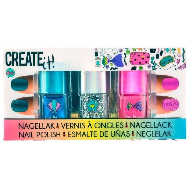 Create it! Lakier do paznokci, 3-pak - Mermaid (84134)