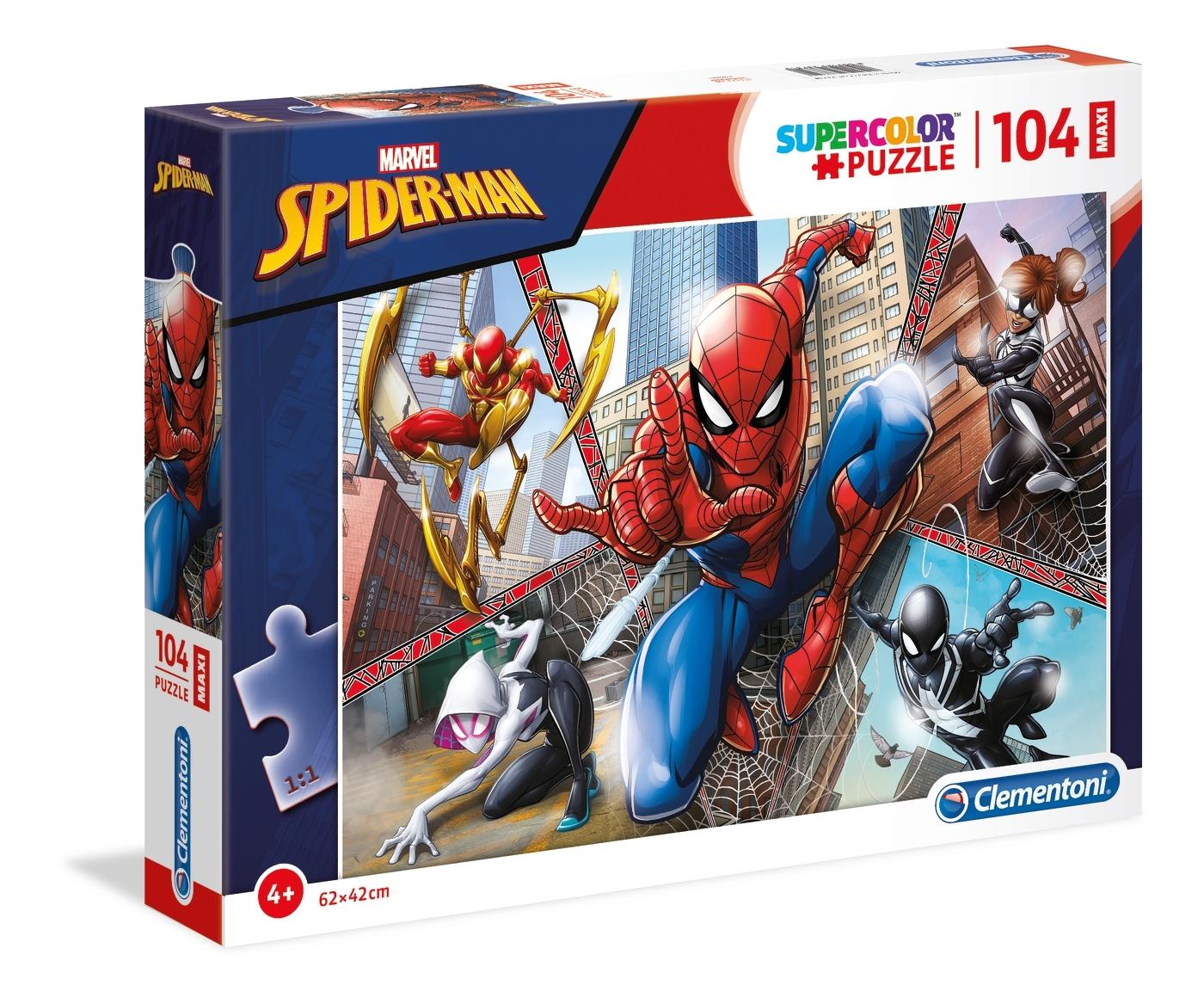 Puzzle Maxi SuperColor 104: Spider-Man (23734)