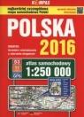 Polska 2016 Atlas samochodowy 1:250 000