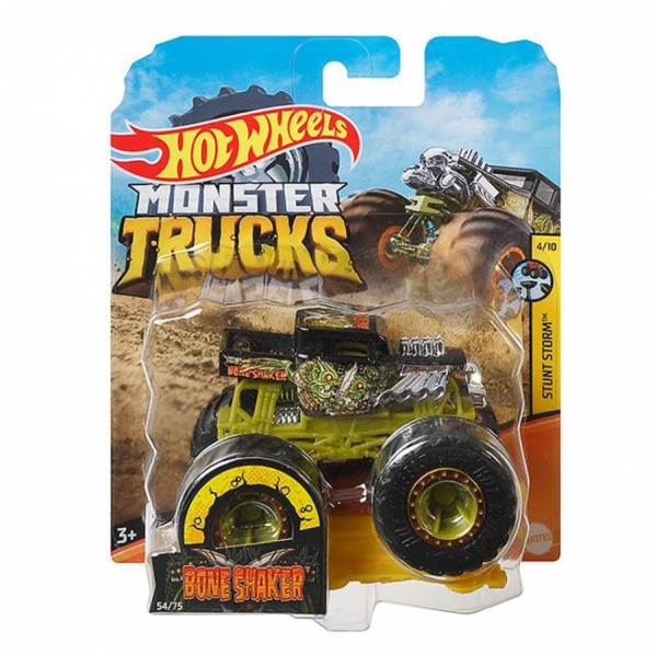 Hot Wheels Monster Trucks: Pojazd 1:64 - Bone Shaker (FYJ44/GJF40)