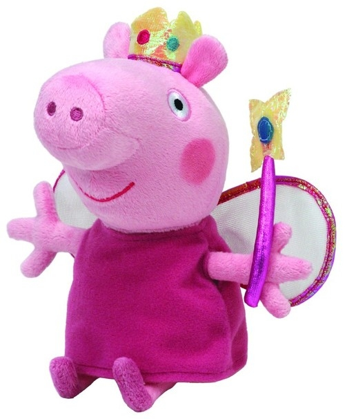 Maskotka Beanie Babies Świnka Peppa - Księżniczka Peppa 28 cm