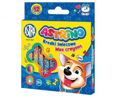 Kredki świecowe 12 kolorów Astrino ASTRA
