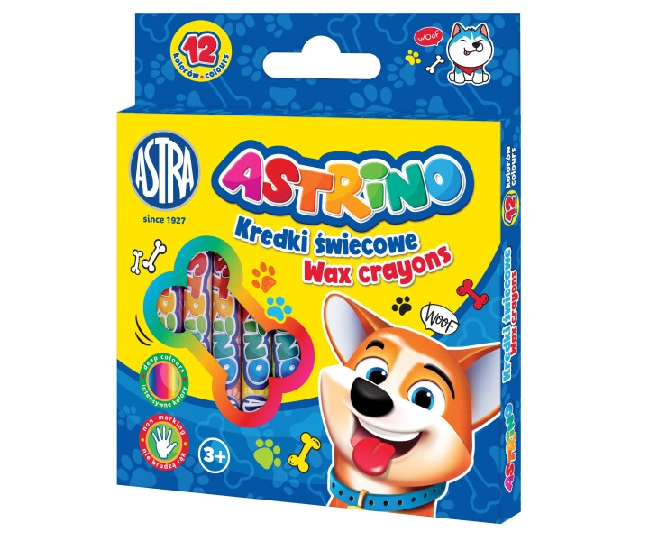 Kredki świecowe Astrino, 12 kolorów (316121003)