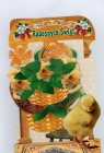 Karnet składany 3D - Radosnych świąt. Kurczak