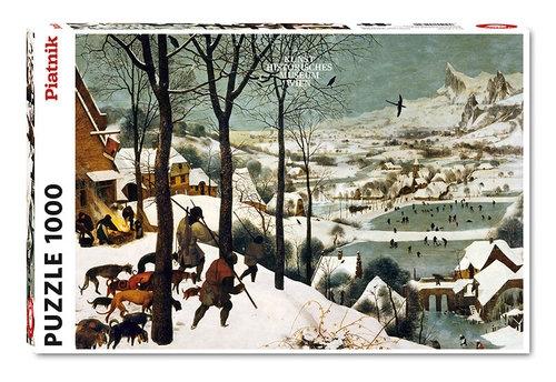 Puzzle Bruegel, Myśliwi na Śniegu 1000