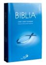 Biblia z rybką miękka, niebieska z paginatorami