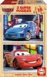 Auta CARS drewniane puzzle dla dzieci 2 x 16 elementów (14934)