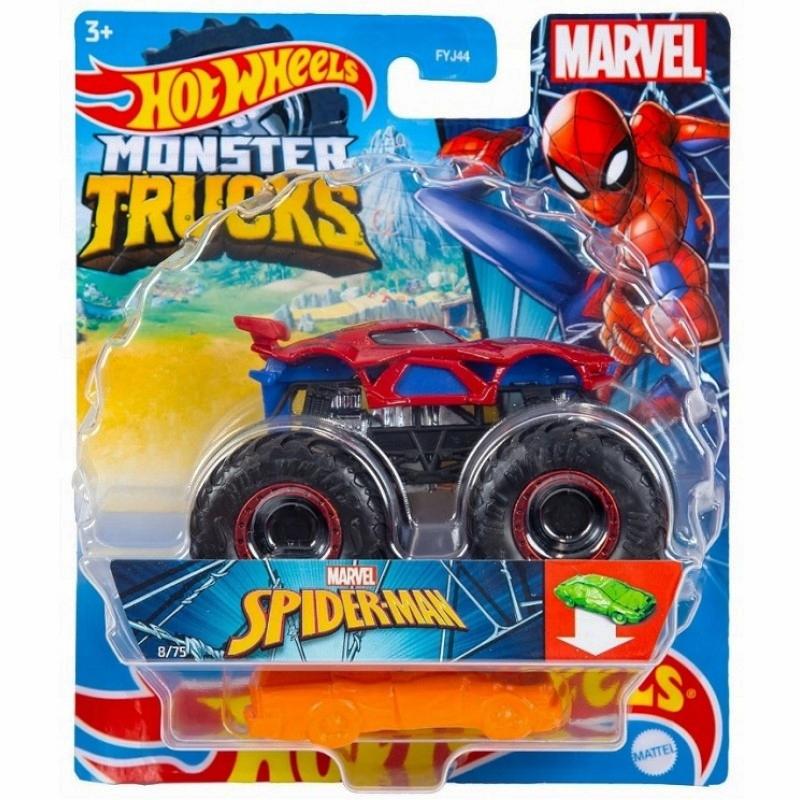 Hot Wheels Monster Trucks: Pojazd 1:64 - Marvel Spider-Man (FYJ44/GWK23)