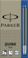 Naboje do pióra wiecznego Parker niebieskie 5szt. (102034)