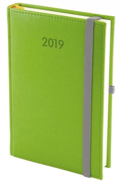 Kalendarz 2019 A5 Dzienny Nebraska z gumką Seledyn