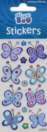 Naklejki laserowe kolorowe Motyle