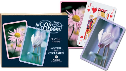 Karty do gry Piatnik  Rozkwit Aster i fiołek alpejski