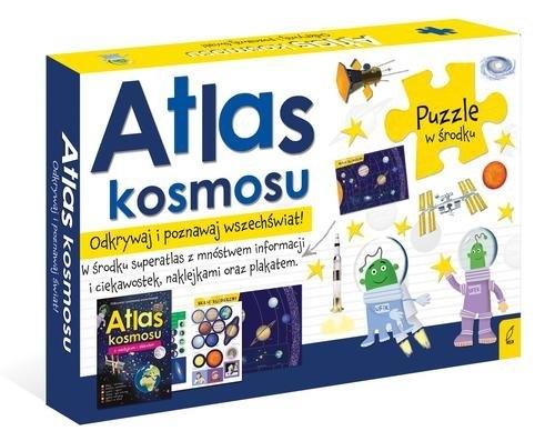Pakiet Atlas kosmosu: Atlas w zestawie z mapą i puzzlami