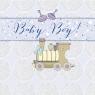 Karnet Swarovski kwadrat Narodziny chłopiec pociąg