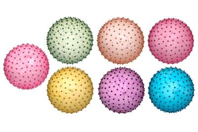 Piłka PVC - Jeżyk transparentna