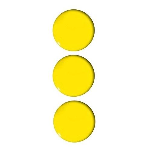 Magnesy do tablic żółte 50mm/3szt. - gładkie (GM304-PY3)