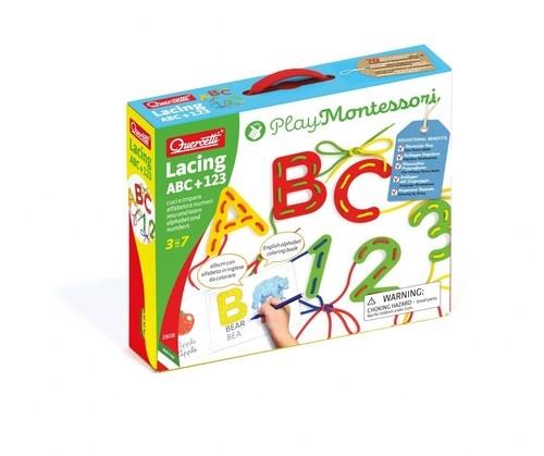 Play Montessori Wiązanka ABC + 123 (2808) (Zgnieciony kartonik)