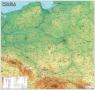 Polska. Mapa Ogólnogeograficzna mapa ścienna oprawiona w listwy