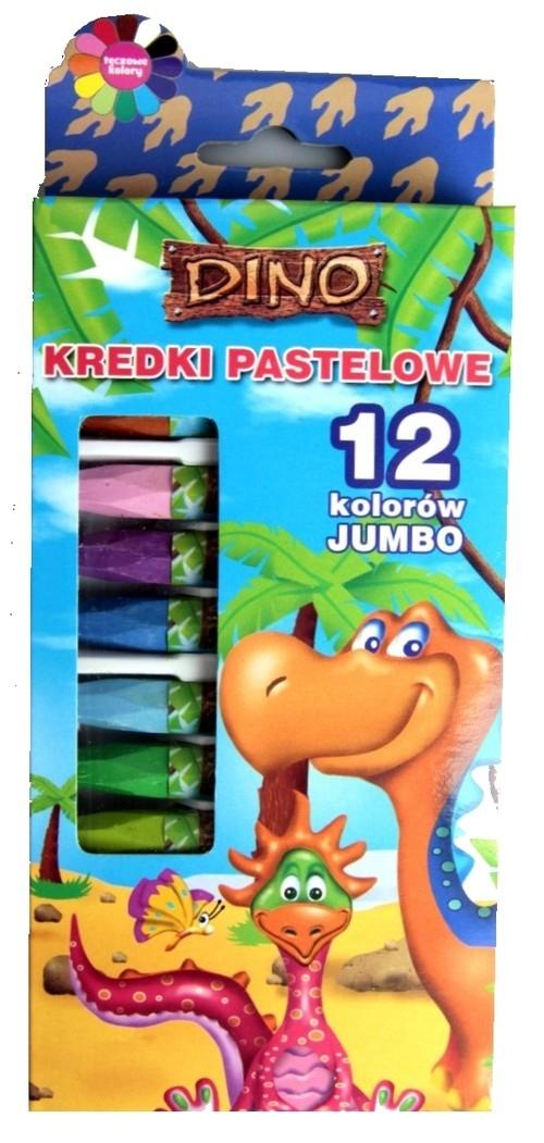 Kredki pastelowe 12 kolorów Dino