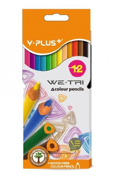 Kredki bezdrzewne 12 kolorów