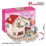 Puzzle 3D Holiday Bungalow Domek dla lalek (P634H)