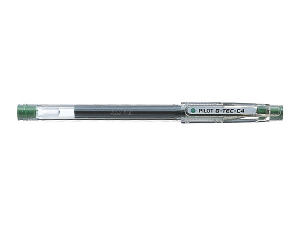 Cienkopis żelowy Pilot G-Tec-C4 Hi-Tecpoint - zielony (BL-GC4-G)