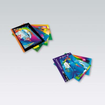 Blok techniczny z kolorowymi kartami A4