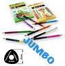 Kredki ołówkowe jumbo bicolor trójkątne (922122-12/24/T)