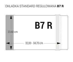 Okładka na podręczniki regulowana B7R op.25szt OZ-41 BIURFOL