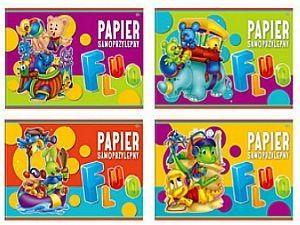 Papier kolorowy samoprzylepny Fluo B5, 8 kartek