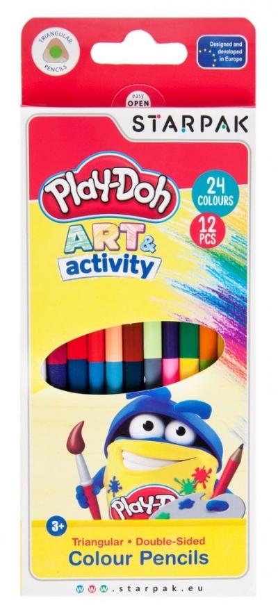 Kredki ołówkowe dwustronne 24 kolory Play-Doh