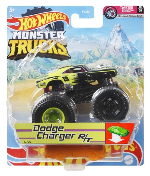 Hot Wheels Monster Trucks: Pojazd 1:64 - Dodge Charger R/T (FYJ44/GWJ98)