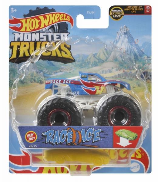 Hot Wheels Monster Trucks: Pojazd 1:64 - Race Ace (FYJ44/GTH79)