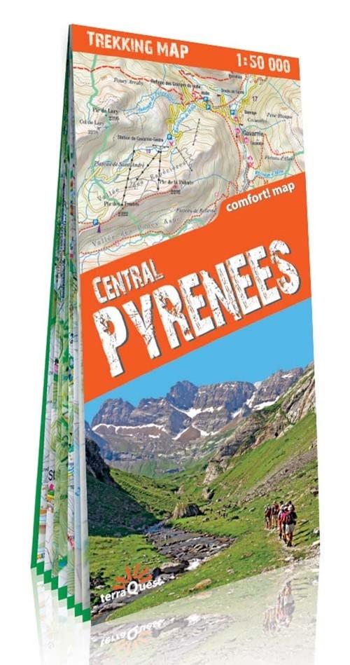 Pireneje Środkowe mapa trekkingowa Opracowanie zbiorowe