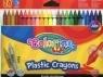 Kredki świecowe okrągłe plastikowe 24 kolory