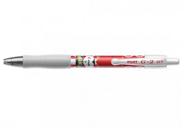 Długopis żelowy Pilot G-2 Mika czerwony Edycja limitowana (BL-G2-7-WR-MKF)
