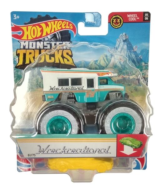 Hot Wheels Monster Trucks: Pojazd 1:64 - Wreckreational (FYJ44/GTH62)