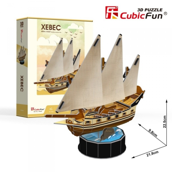 Puzzle 3D Żaglowiec Xebec 53 elementy (T4034h)