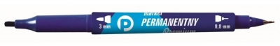 Marker perman. nieb. 2 końcówki (12szt.) KM501-N2