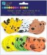 Naklejki z pianki z motywami głów zwierząt 38 szt