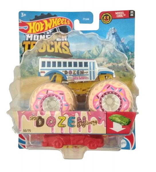 Hot Wheels Monster Trucks: Pojazd 1:64 - Dozen Delivery (FYJ44/GTH94)