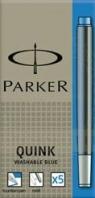 Naboje do pióra wiecznego Parker niebieskie zmywalne 5szt.