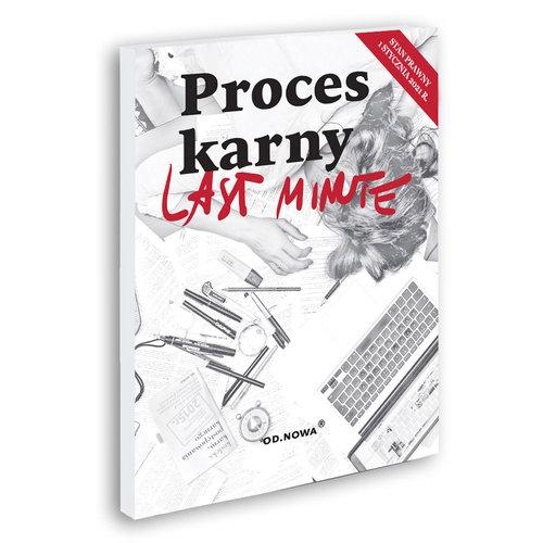 Last Minute Proces Karny 2021 - książka