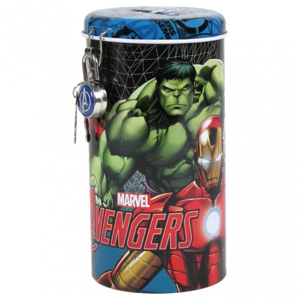 Skarbonka z kłódką Avengers 99 DERFORM