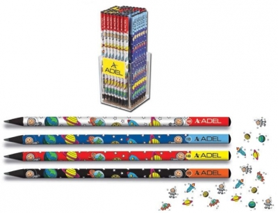 Ołówek Kosmos czarne drewno Adel 2061130714990 mix