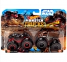 Hot Wheels Monster Trucks: Pojazdy 2-pak - Darth Vader vs Chewbacca